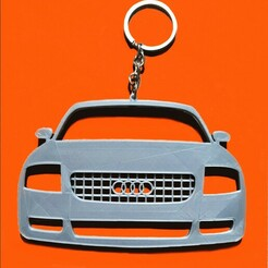 TT8Nfront-1.jpg Download STL file Audi TT 8N front view keychain • Design to 3D print, ioancodoban