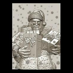 2020-12-28_133047.jpg Télécharger fichier STL Joyeux Noël Père Noël Bonne Année Noël Modèles 3D • Modèle pour imprimante 3D, 3DCNCMODELS