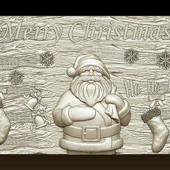 d746.jpg Télécharger fichier STL Joyeux Noël Père Noël Bonne Année Noël Modèles 3D • Modèle pour imprimante 3D, 3DCNCMODELS