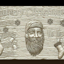 d744.jpg Télécharger fichier STL Joyeux Noël Père Noël Bonne Année Noël Modèles 3D • Modèle pour imprimante 3D, 3DCNCMODELS
