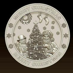 d767.jpg Télécharger fichier STL Joyeux Noël Père Noël Bonne Année Noël Modèles 3D • Modèle pour imprimante 3D, 3DCNCMODELS