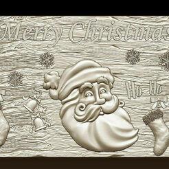 d747.jpg Télécharger fichier STL Joyeux Noël Père Noël Bonne Année Noël Modèles 3D • Modèle pour imprimante 3D, 3DCNCMODELS