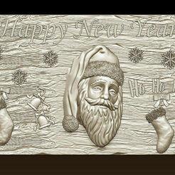 d753.jpg Télécharger fichier STL Joyeux Noël Père Noël Bonne Année Noël Modèles 3D • Modèle pour imprimante 3D, 3DCNCMODELS