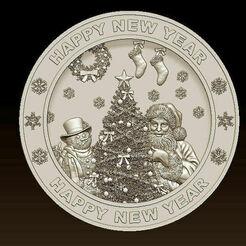 d769.jpg Télécharger fichier STL Joyeux Noël Père Noël Bonne Année Noël Modèles 3D • Modèle pour imprimante 3D, 3DCNCMODELS