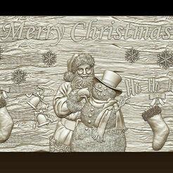 d752.jpg Télécharger fichier STL Joyeux Noël Père Noël Bonne Année Noël Modèles 3D • Modèle pour imprimante 3D, 3DCNCMODELS