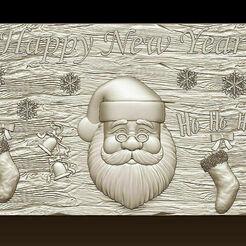 d758.jpg Download STL file Merry Christmas Holiday Santa Claus Happy New Year Xmas Christmas Day 3D Models  • 3D printing design, 3DCNCMODELS