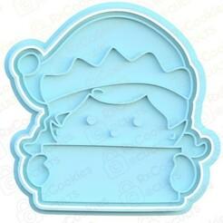 elf woman.jpg Download STL file Elf woman cookie cutter • 3D printable object, RxCookies