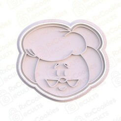 20.jpg Download STL file Mrs Santa Claus head cookie cutter • 3D printing template, RxCookies