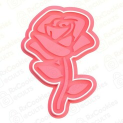rose.jpg Download STL file Rose cookie cutter • 3D print template, RxCookies