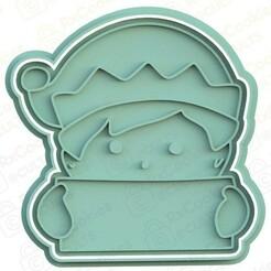 elf man.jpg Download STL file Elf man cookie cutter • 3D printable design, RxCookies