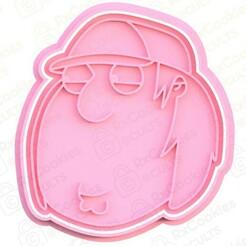chris gr.jpg Download STL file Chris Griffin cookie cutter • 3D printing design, RxCookies