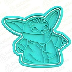 yoda.jpg Download STL file Yoda cookie cutter • 3D printable object, RxCookies
