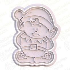 10.jpg Download STL file Cute Elf cookie cutter  • 3D print design, RxCookies