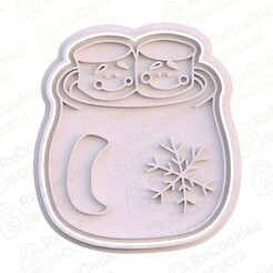 15.jpg Download STL file Mug with marshmallows cookie cutter • 3D printing template, RxCookies