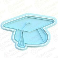 square academic cap.jpg Download STL file Square academic cap cookie cutter • 3D print design, RxCookies