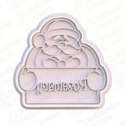 14.jpg Download STL file Santa with plate cookie cutter • 3D printer design, RxCookies