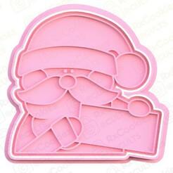 santa 2.jpg Download STL file Santa cookie cutter • Model to 3D print, RxCookies
