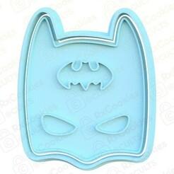 batman.jpg Télécharger fichier STL L'emporte-pièce Batman • Plan à imprimer en 3D, RxCookies