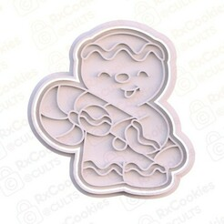 12.jpg Download STL file Gingerbread man cookie cutter • 3D printable model, RxCookies
