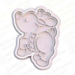 16.jpg Download STL file Christmas deer cookie cutter • 3D printer template, RxCookies