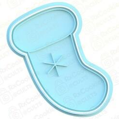 Christmas sock.jpg Download STL file Christmas sock cookie cutter • 3D printing design, RxCookies
