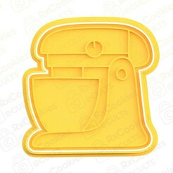 mixer.jpg Download STL file Mixer cookie cutter • 3D printable object, RxCookies