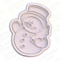 9.jpg Download STL file Snowman fullbody cookie cutter • 3D printing object, RxCookies