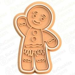 gingerbread man.jpg Download STL file Gingerbread man cookie cutter • 3D printable model, RxCookies