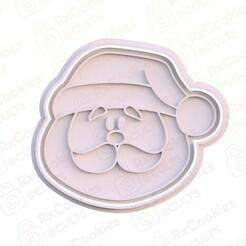 19.jpg Download STL file Santa head cookie cutter  • 3D print template, RxCookies