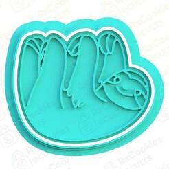 sloth.jpg Download STL file Sloth cookie cutter • 3D printable model, RxCookies