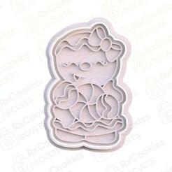 7.jpg Download STL file Gingerbread man cookie cutter • 3D printable model, RxCookies