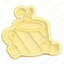 mug of cocoa.jpg Download STL file Сup of cocoa cookie cutter • 3D printable template, RxCookies