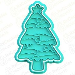 tree.jpg Download STL file Christmas tree cookie cutter • 3D printing design, RxCookies