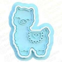 lama.jpg Download STL file Lama cookie cutter • 3D print model, RxCookies