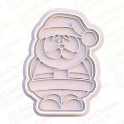 5.jpg Download STL file Santa Claus cookie cutter • 3D print model, RxCookies