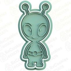 alien.jpg Download STL file Alien cookie cutter • 3D print template, RxCookies