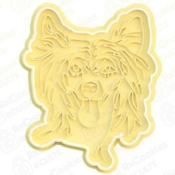 chinese dog.jpg Download STL file Chinese dog cookie cutter • 3D print template, RxCookies