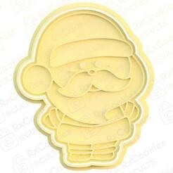 santa.jpg Download STL file Santa #2 cookie cutter • 3D printer model, RxCookies