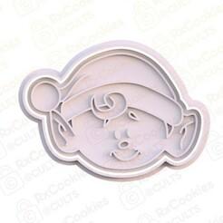 13.jpg Download STL file Elf head cookie cutter • Template to 3D print, RxCookies