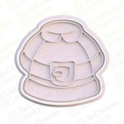 25.jpg Download STL file Santa jacket cookie cutter • 3D printing model, RxCookies