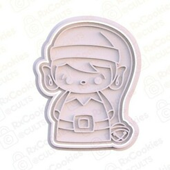 21.jpg Download STL file Cute Elf cookie cutter  • 3D print design, RxCookies