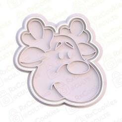 2.jpg Download STL file Deer cookie cutter • 3D print design, RxCookies
