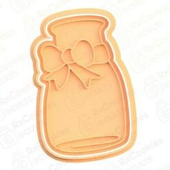 28.jpg Download STL file Bottle of milk cookie cutter • 3D print design, RxCookies