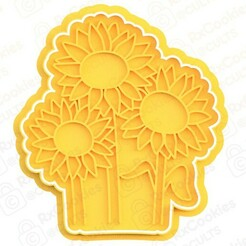 Sunflower.jpg Download STL file Sunflower cookie cutter • 3D printer design, RxCookies