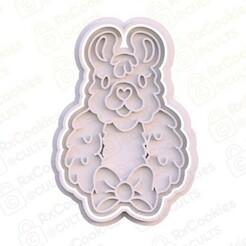 17.jpg Download STL file Christmas lama cookie cutter • 3D printer design, RxCookies