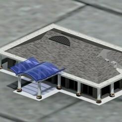 Building assembly.jpg Download STL file N gauge Battle creek Passenger Station (detailed) • 3D print model, schonfelder