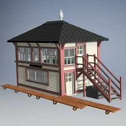 English scenary 1.jpg Download STL file N gauge Signal Tower England version  • 3D printing object, schonfelder