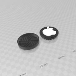 apple (2).png Download STL file apple grinder • Design to 3D print, creaciones3d