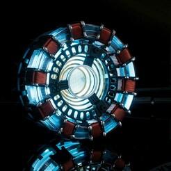 f0199229-5bd6-4bfc-aaa2-35b149abb20e.jpg Download free STL file Tony Stark's Arc Reactor • 3D printer template, Devan17