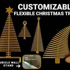 FlexibleChristmasTree-cover02-700x526.jpg Télécharger fichier SCAD gratuit Arbre de Noël flexible et personnalisable • Modèle imprimable en 3D, lyl3